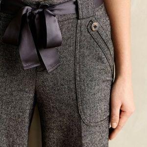 Anthropologie Elevenses Ribboned Wide Leg Pants